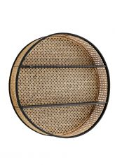 Rundes Regal aus Rattan