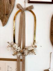 Kränzli oval mit Trockenblumen