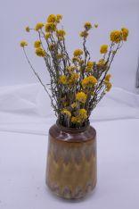 Vase TAMNO inkl. Trockenblumen gelb
