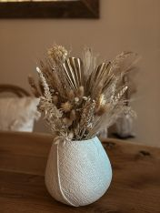 Vase GOLD LOVER inkl. Trockenblumenstrauss